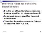 inference rules for functional dependencies