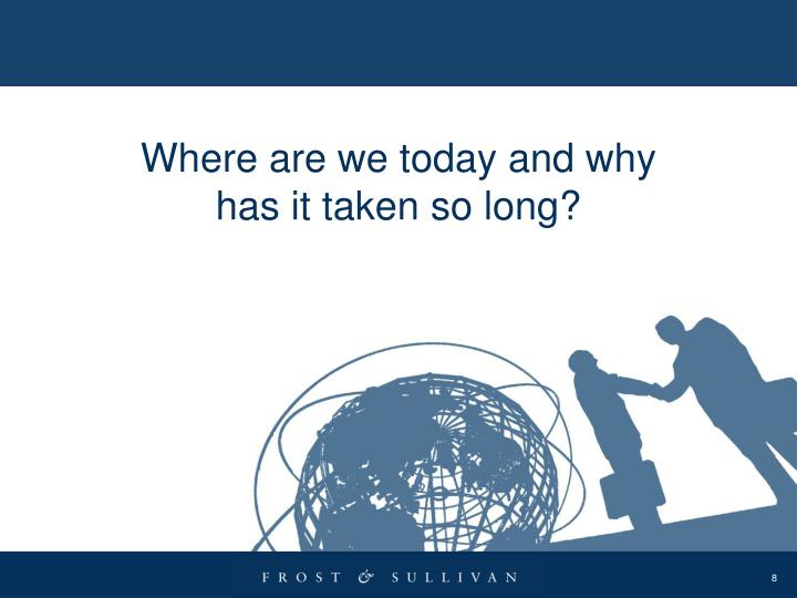 Where are we today and why has it taken so long?