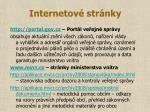internetov str nky