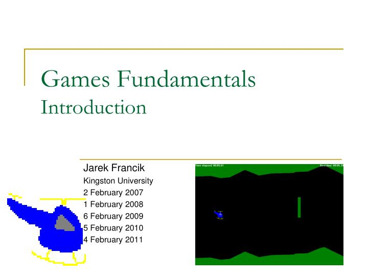 games fundamentals introduction n.