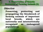 4 preservation of genetic resources of farming animals 1