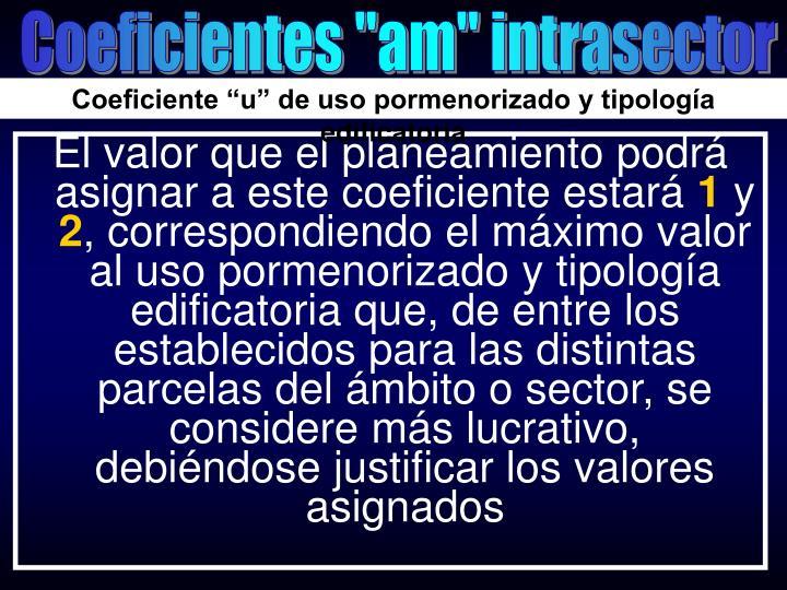 "Coeficientes ""am"" intrasector"