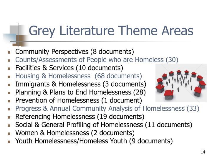 Grey Literature Theme Areas