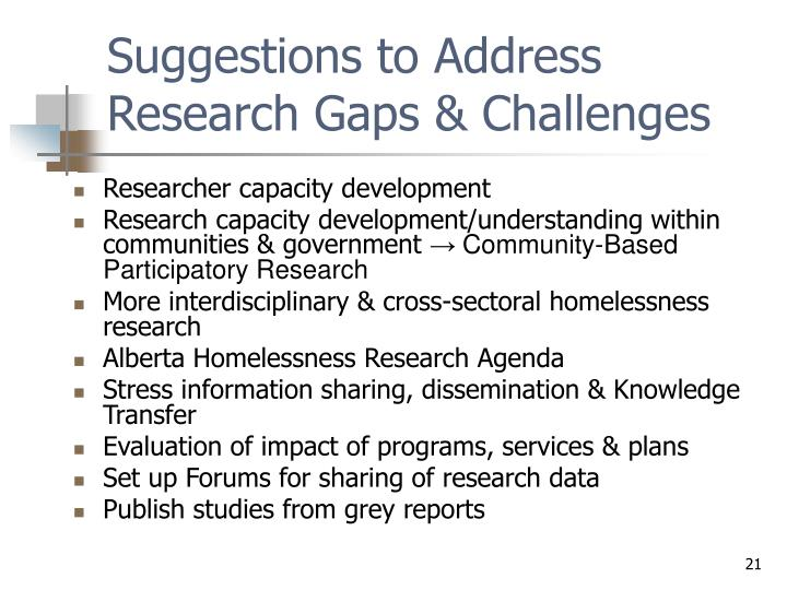 Suggestions to Address Research Gaps & Challenges