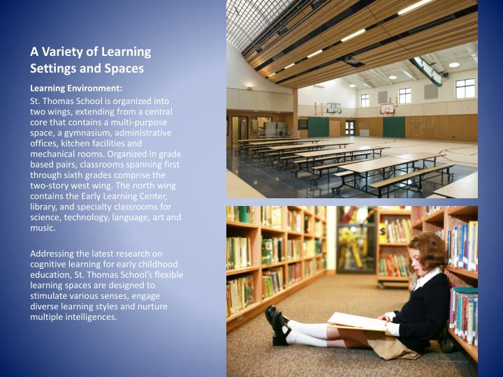 A Variety of Learning Settings and Spaces