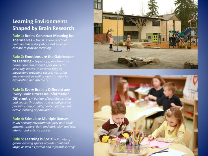 Learning Environments Shaped by Brain Research