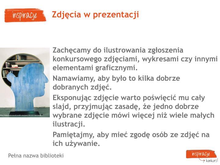 Zdjęcia w prezentacji