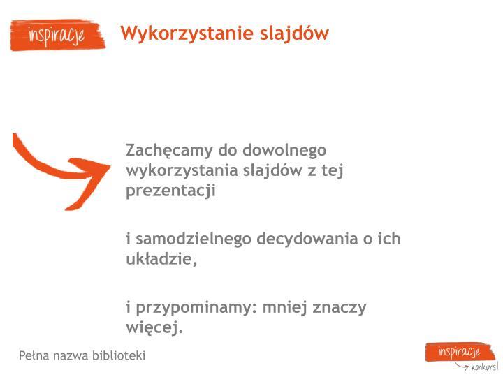 Wykorzystanie slajdów