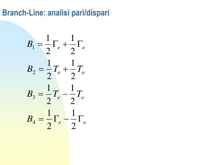 Branch line analisi pari dispari