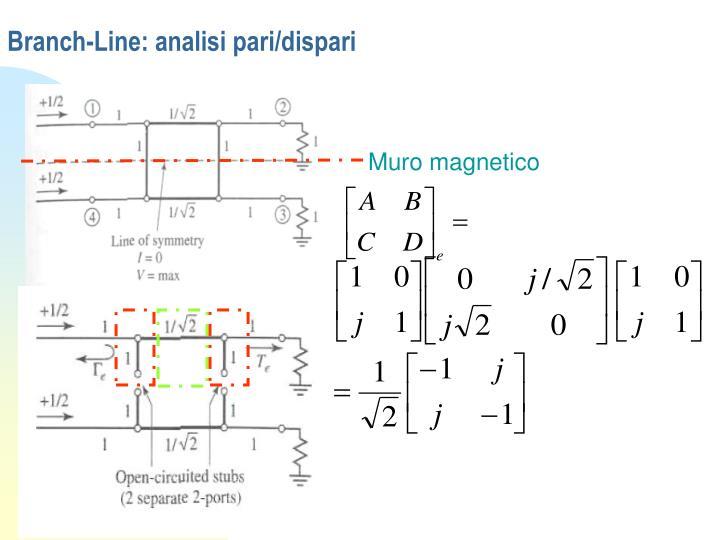 Branch line analisi pari dispari1