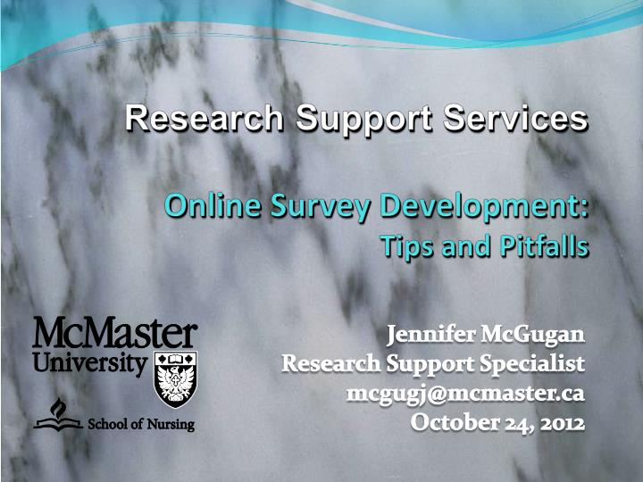 research support services online survey development tips and pitfalls n.