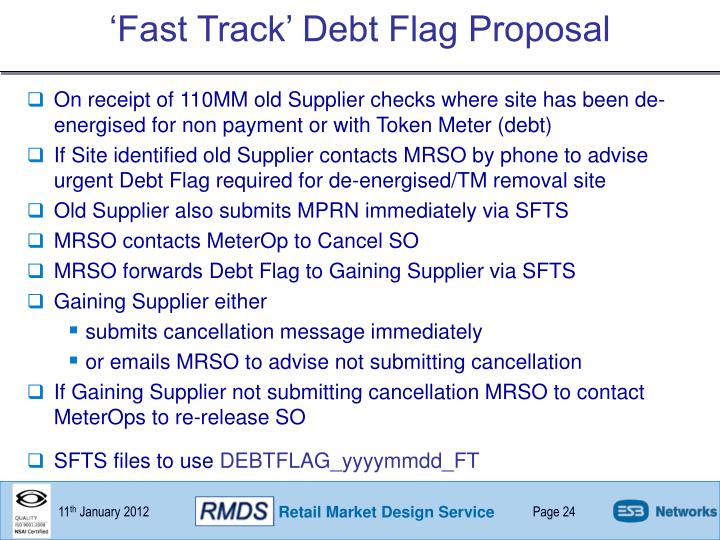 'Fast Track' Debt Flag Proposal