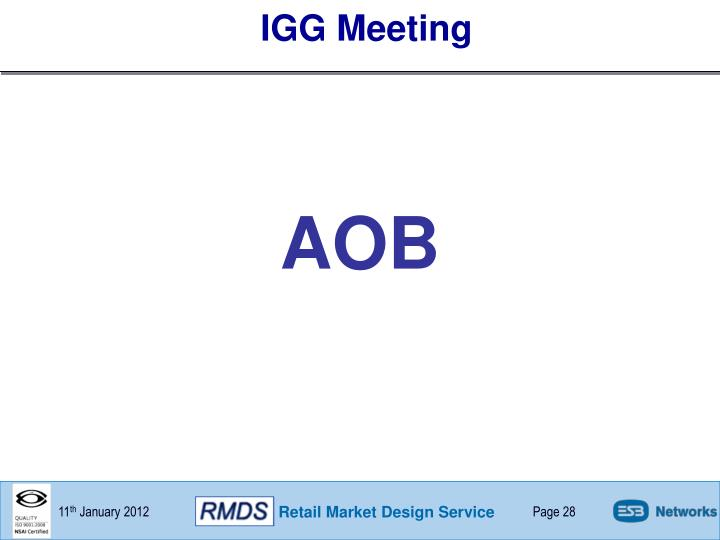 IGG Meeting