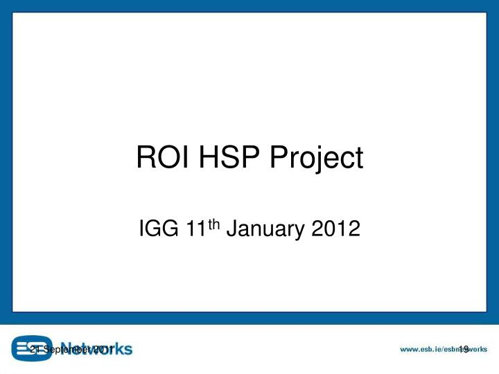 ROI HSP Project