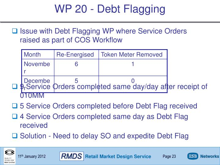WP 20 - Debt Flagging