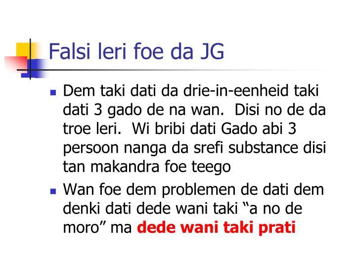 Falsi leri foe da JG