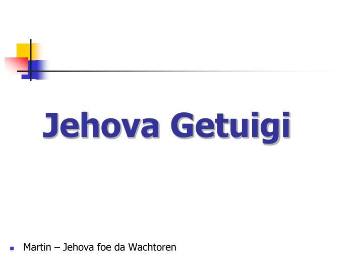 Jehova getuigi