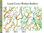 land cover within buffers1