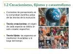 1 2 creacionismo fijismo y catastrofismo