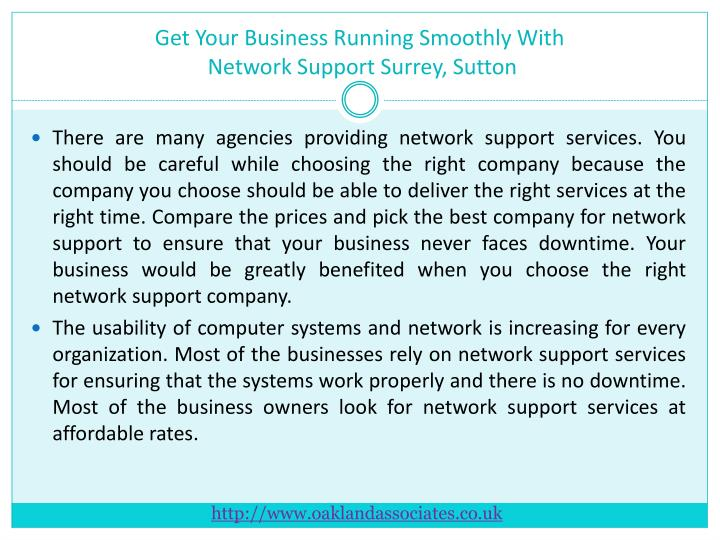 Get your business running smoothly with network support surrey sutton