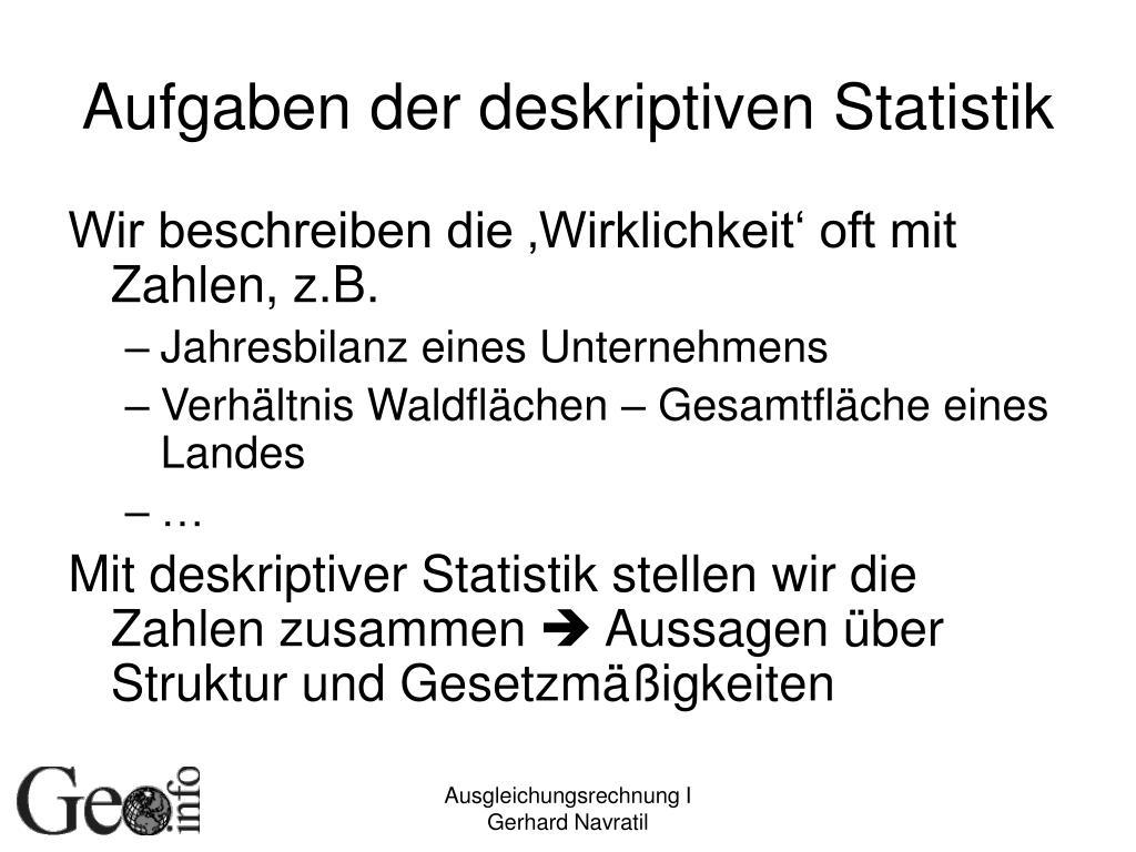 Deskriptiven Statistik