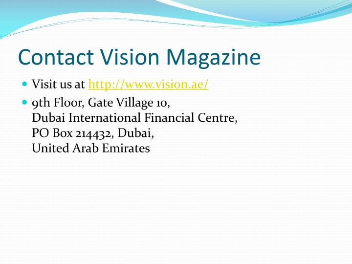 Contact Vision Magazine