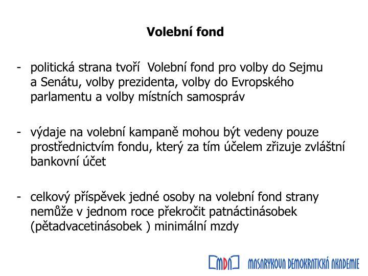 Volební fond