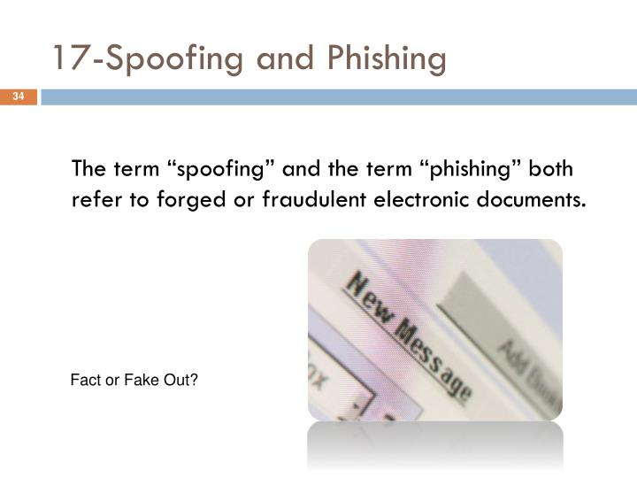 17-Spoofing and Phishing