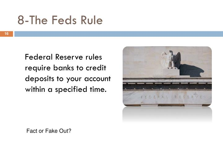 8-The Feds Rule