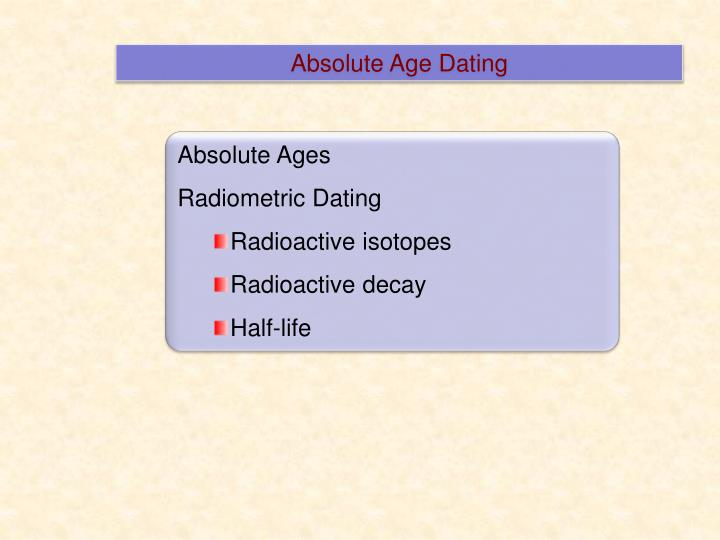 Absolute Age Dating