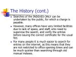 the history cont8