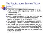 the registration service today cont10