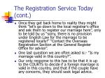 the registration service today cont15