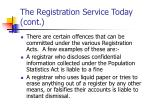 the registration service today cont16