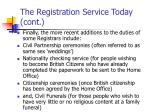 the registration service today cont18