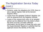 the registration service today cont4