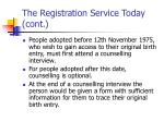 the registration service today cont5