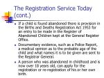 the registration service today cont7