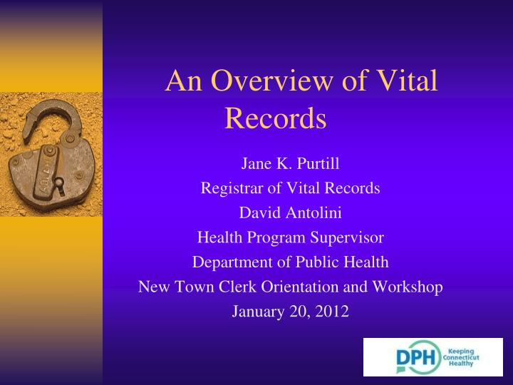an overview of vital records n.