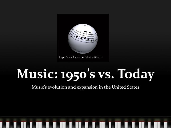 Music 1950 s vs today