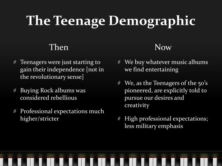The Teenage Demographic