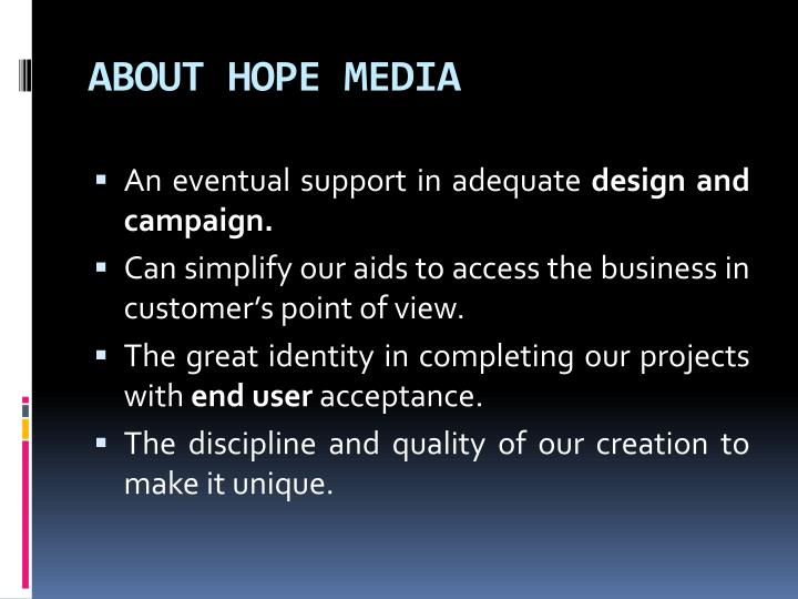 About hope media