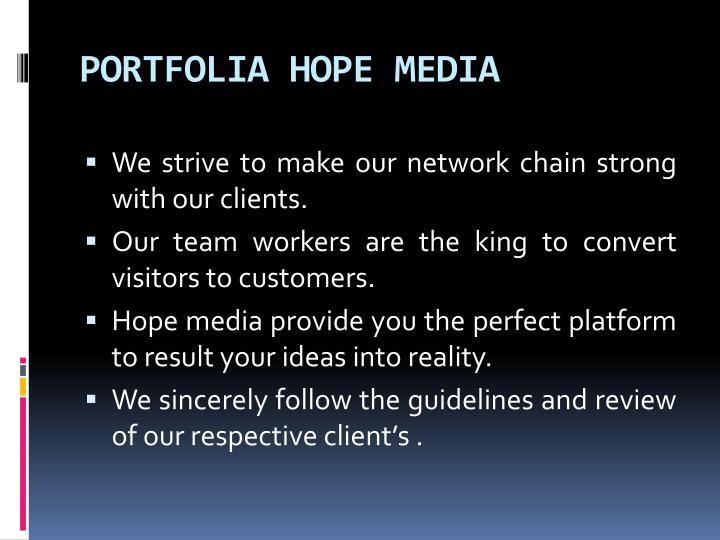 PORTFOLIA HOPE MEDIA