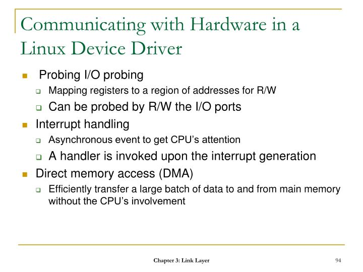 Communicating with Hardware in a Linux Device Driver