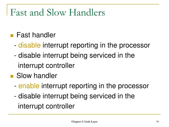 Fast and Slow Handlers