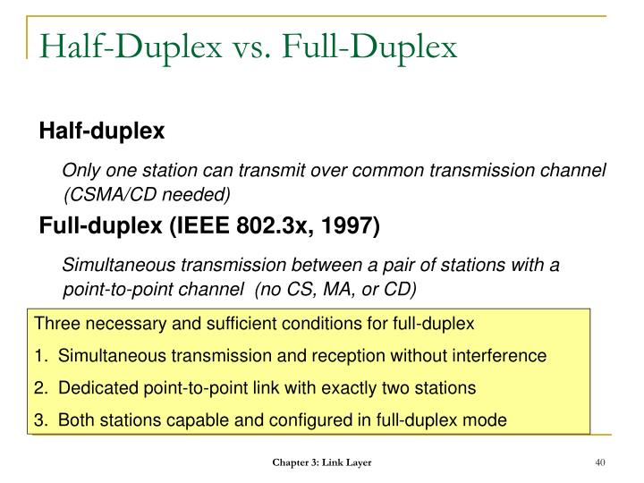 Half-Duplex vs. Full-Duplex