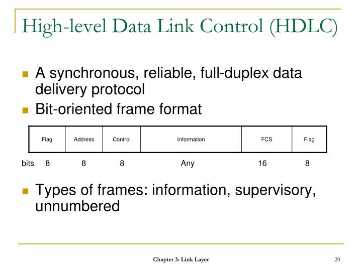 High-level Data Link Control (HDLC)