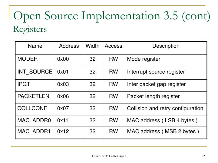 Open Source Implementation 3.5 (cont)
