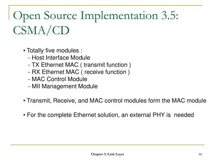 Open Source Implementation 3.5: CSMA/CD