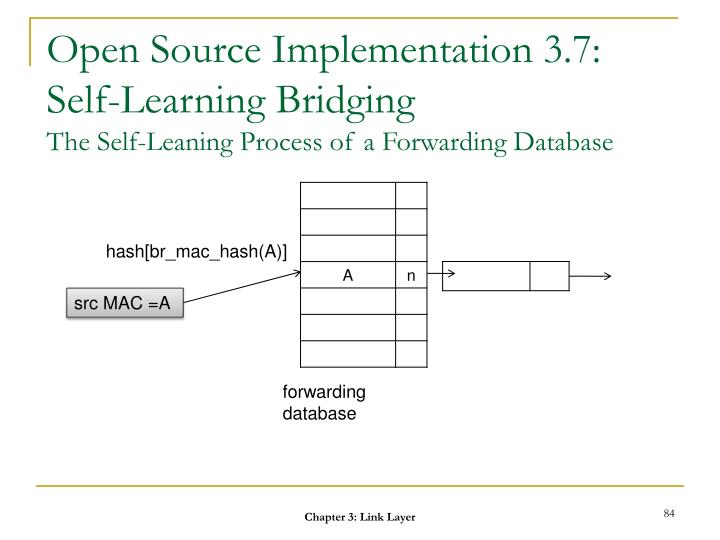 Open Source Implementation 3.7: Self-Learning Bridging